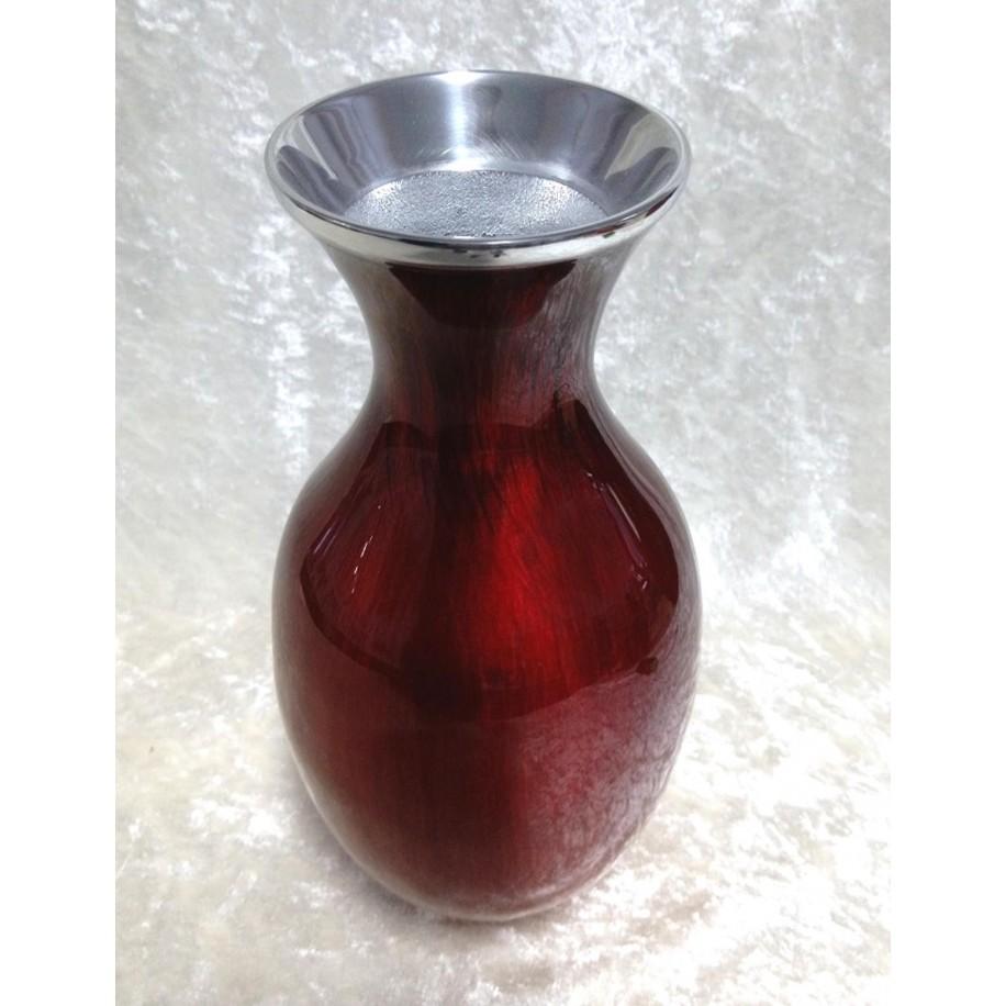 Vase Vegas 23 cm rot schimmernd