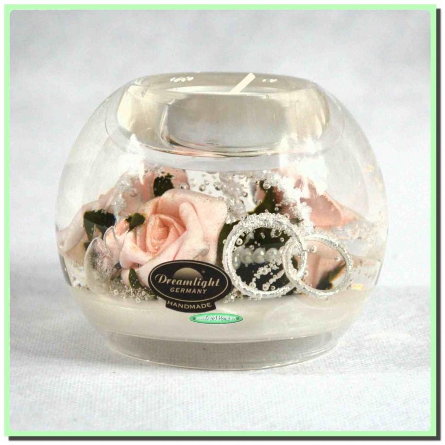 Wedding Rose Mercur Teelichthalter