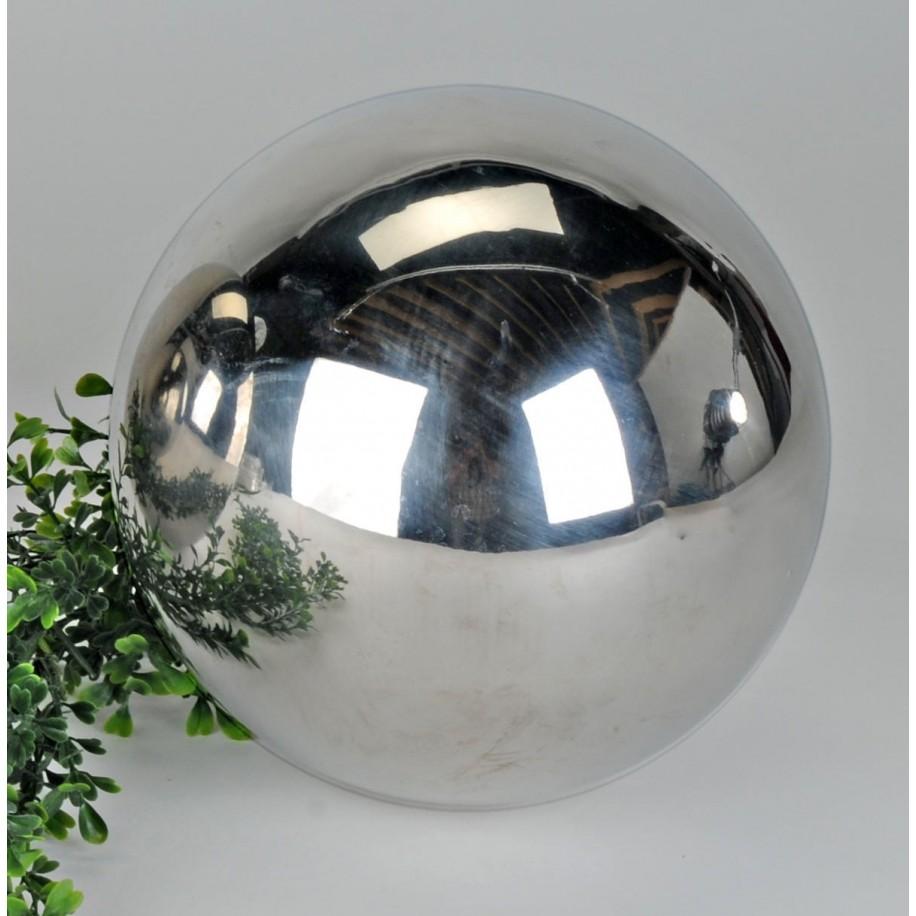 Dekokugel Edelstahl 7,5 cm glänzend