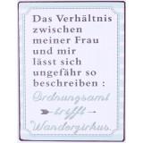 "Wandbild Metall ""Das Verhältnis zwischen ...."""