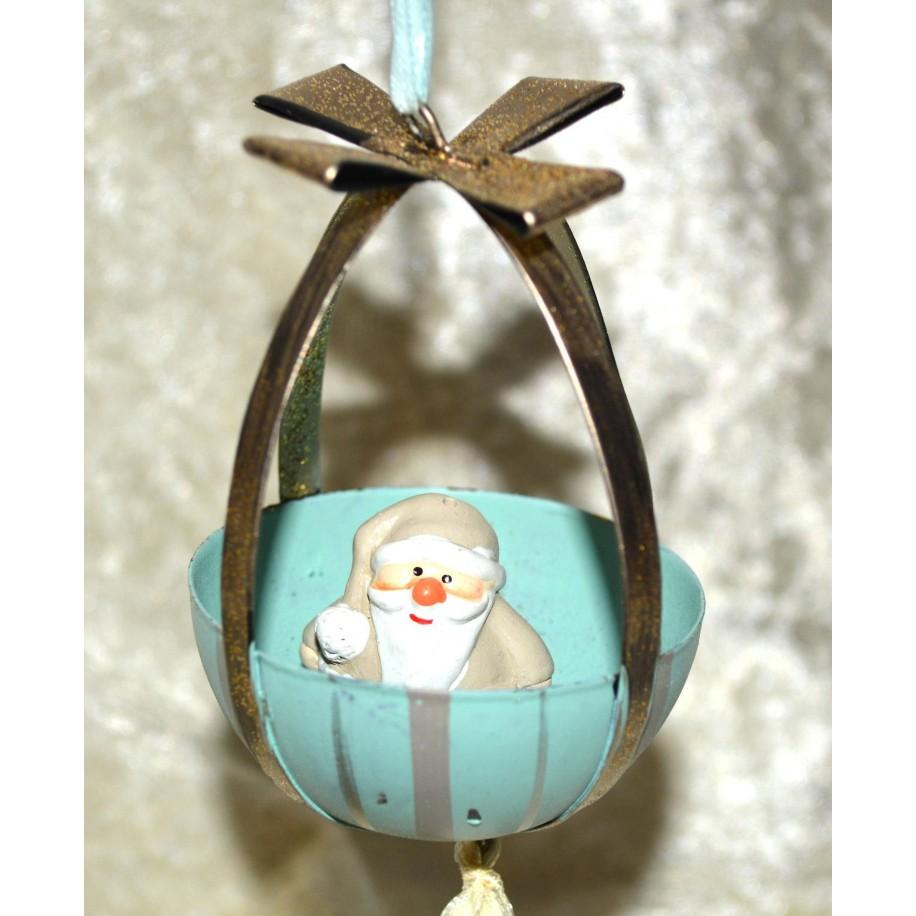 Weihnachtsmann im Ballon sitzend Hänger
