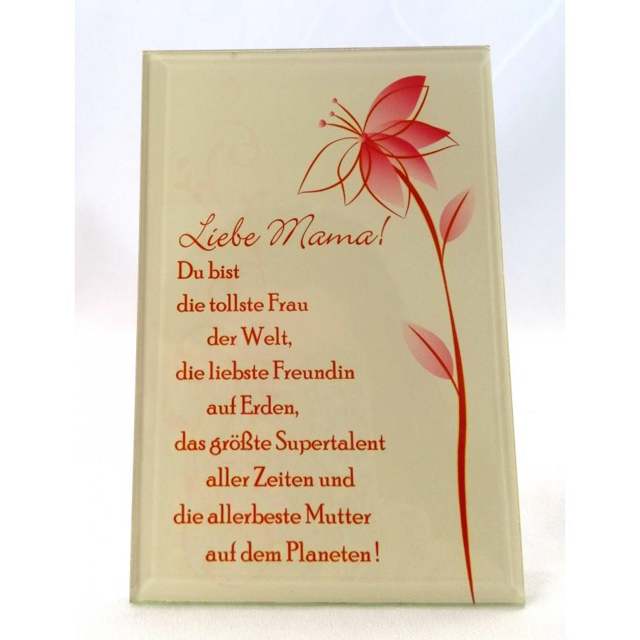 Gilde Glas Bild mit Spruch Für Muttertag