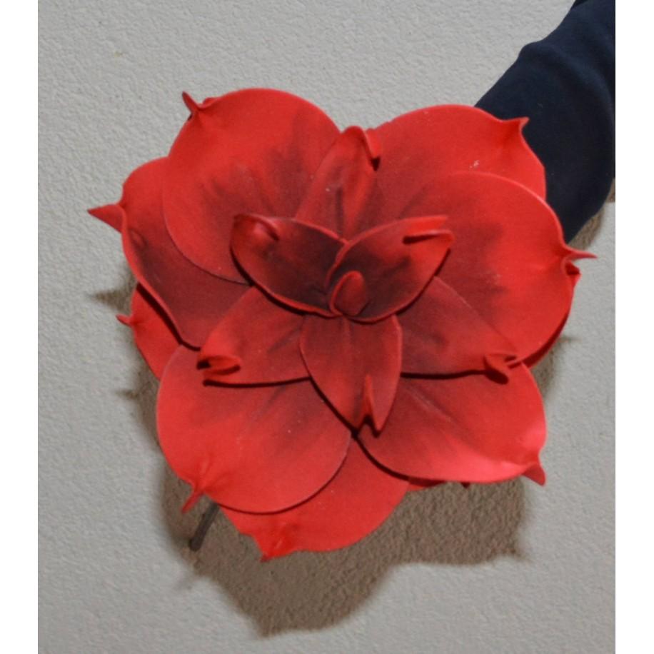 Schaumstoffblume rot