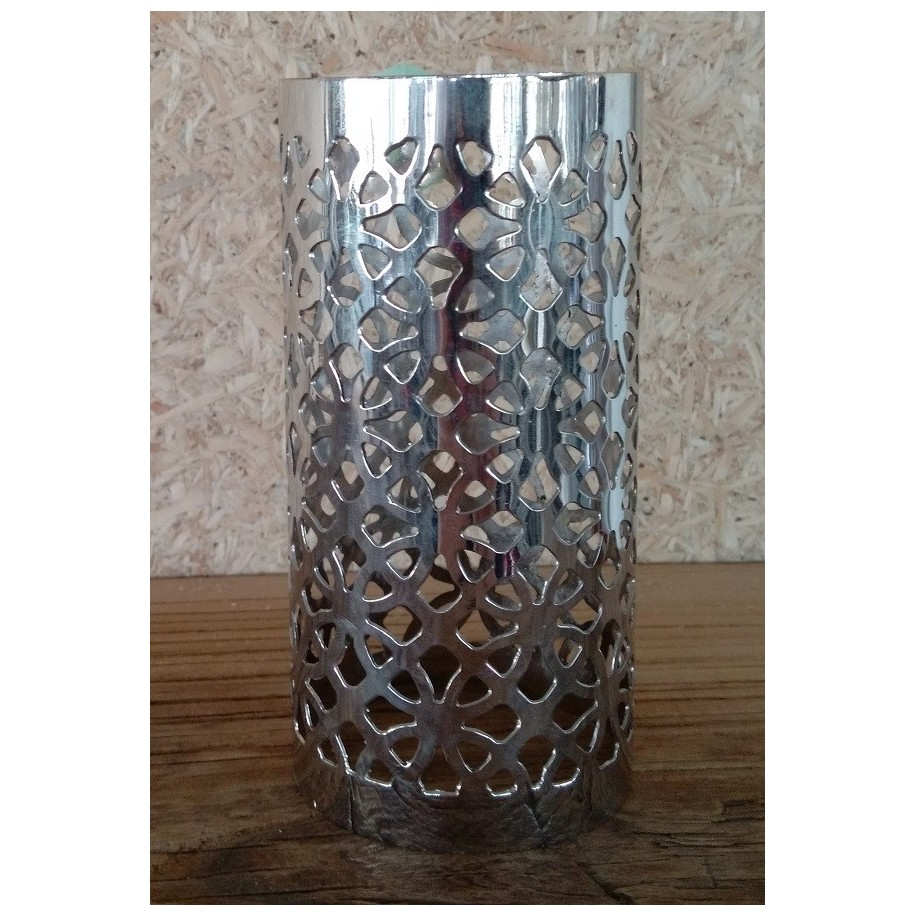 Zylinder Messing vernicktelt 13x6 cm für Kerze