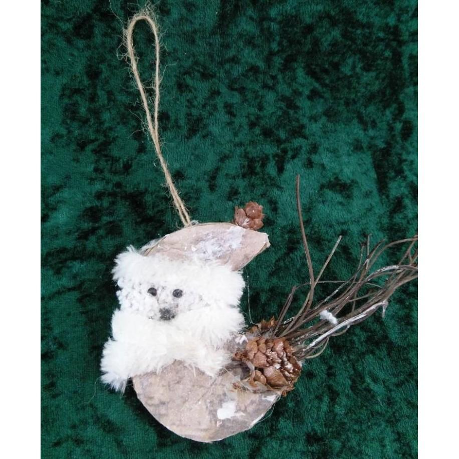 Christbaumschmuck Vogel aus Pappe