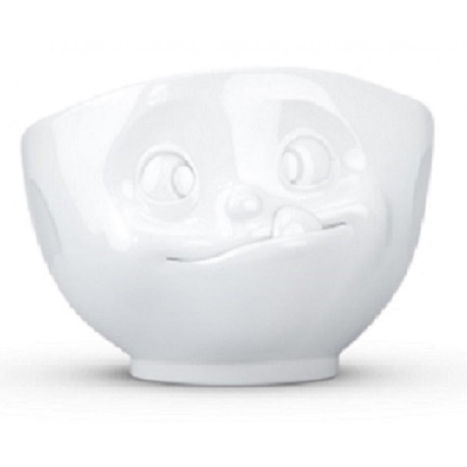 Müslischale weiß 500 ml mit Gesicht lecker