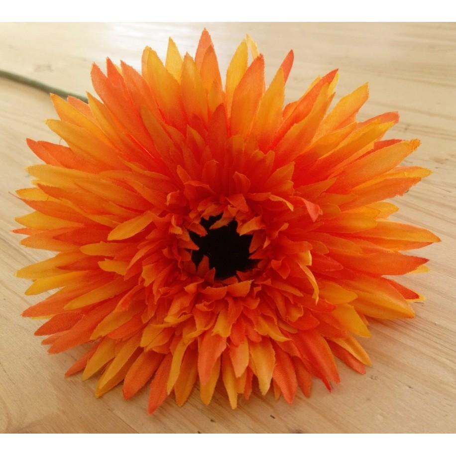 Strahlengerbera orange aus Stoff und Kunstmaterial