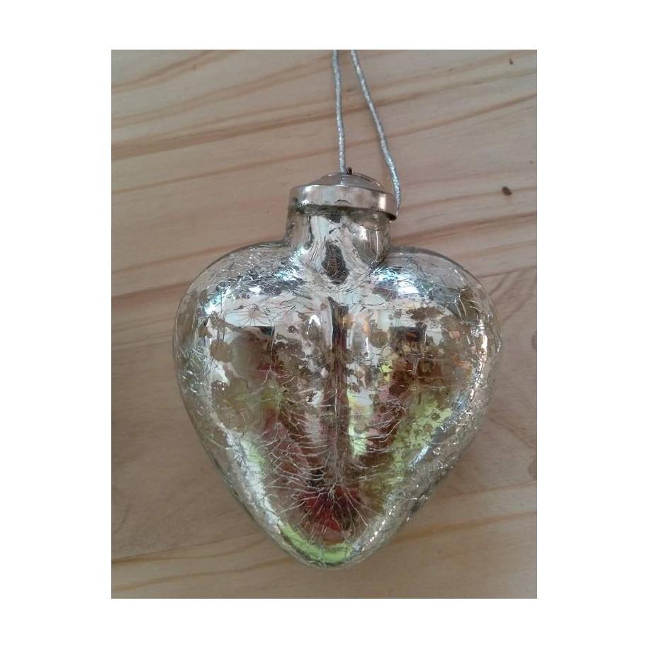 Herz zum hängen aus Glas