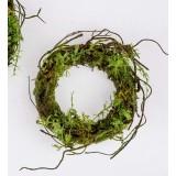 Kranz 20 cm grün mit Moos