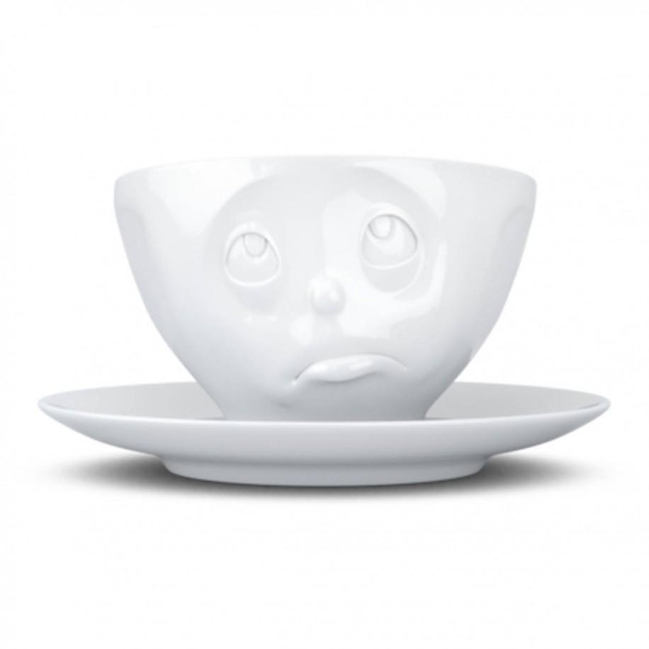 Kaffeetasse weiß 200 ml mit Gesicht Och Bitte