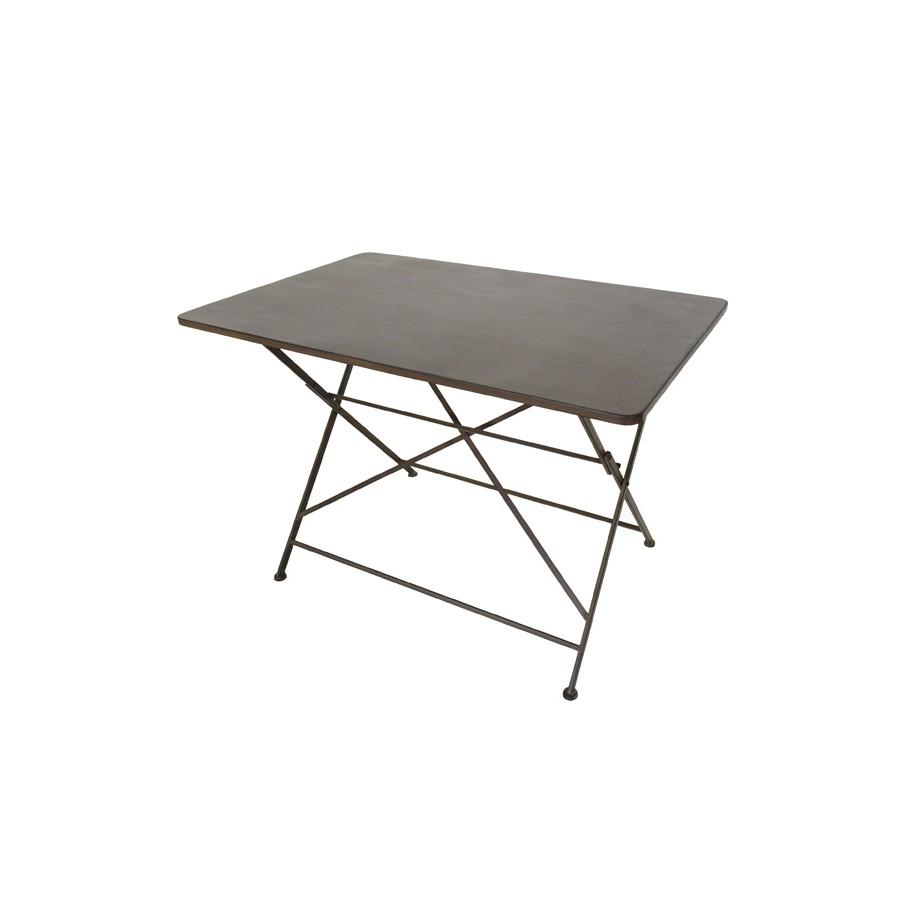 Tisch Margott antik dunkelbraun/schwarz
