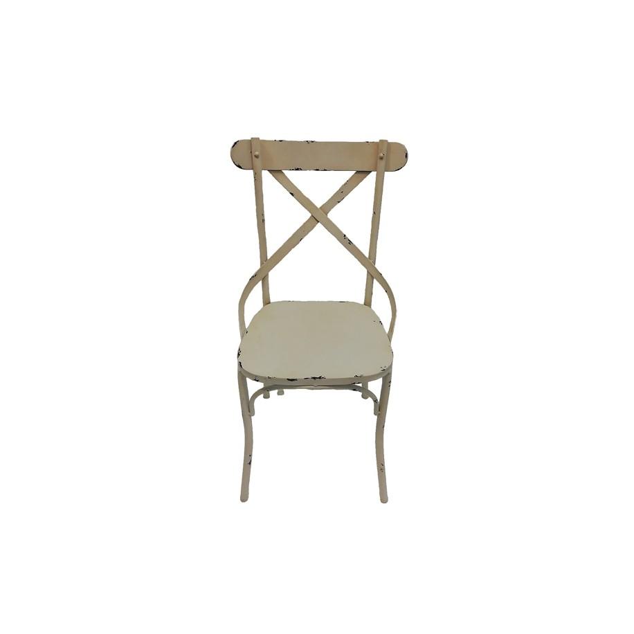 Stuhl Lucy weißz antik patiniert