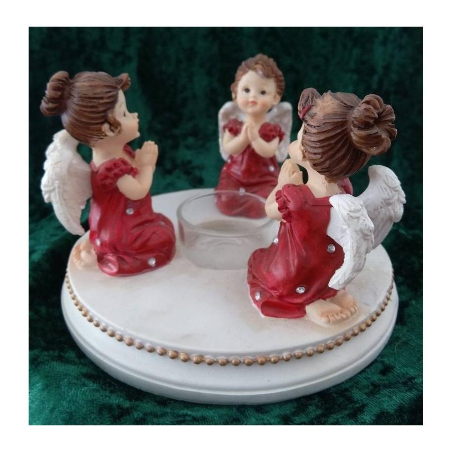 Drei Weihnachtsengel rot