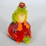 Salz u. Pfefferstreuer Frosch auf Glückskäfer