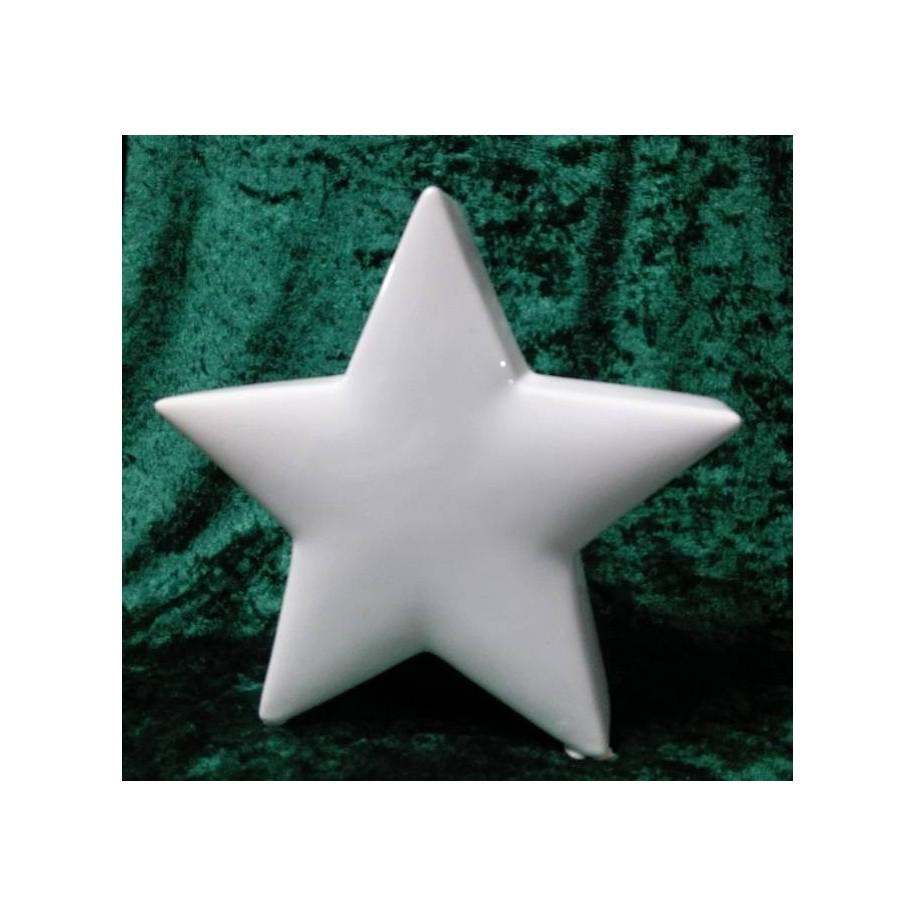Stern aus Keramik weiß von Gilde 20 cm