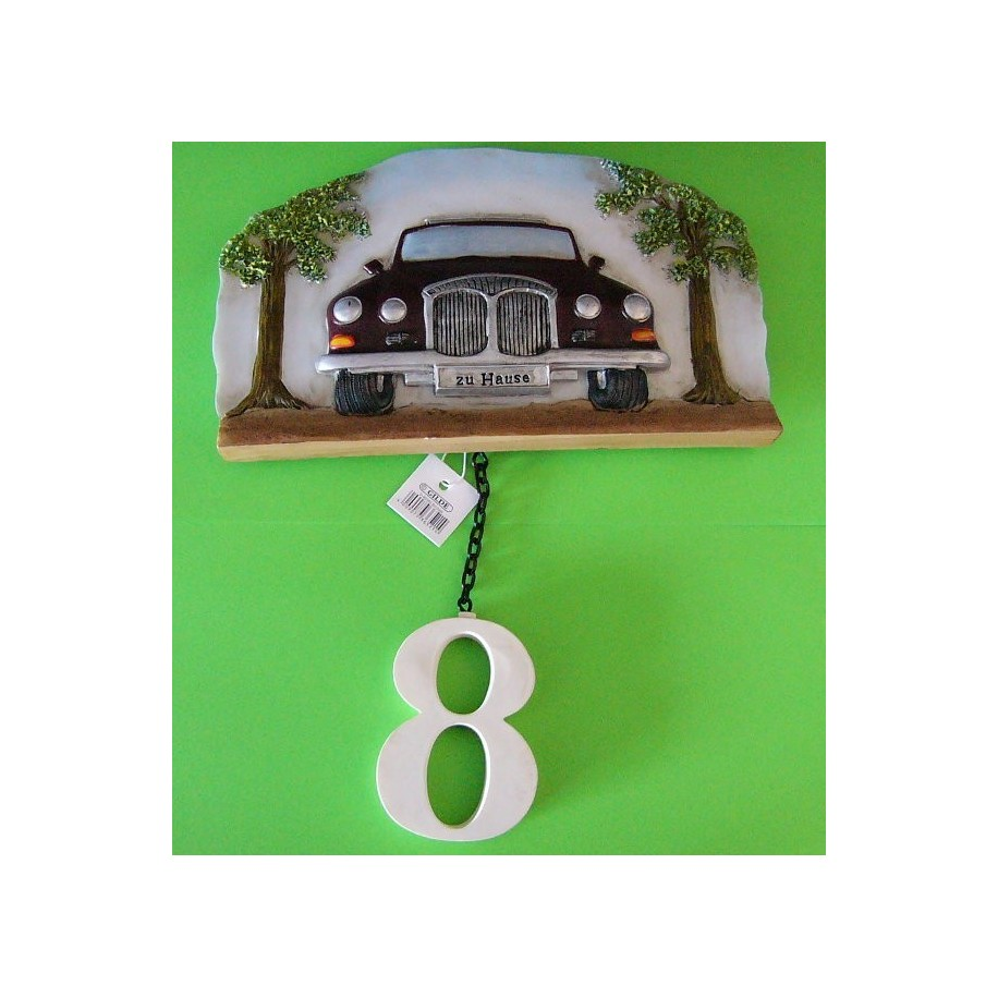 Hausnummer Motiv Auto