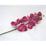 Deko Orchidee mit 9 Blüten pink