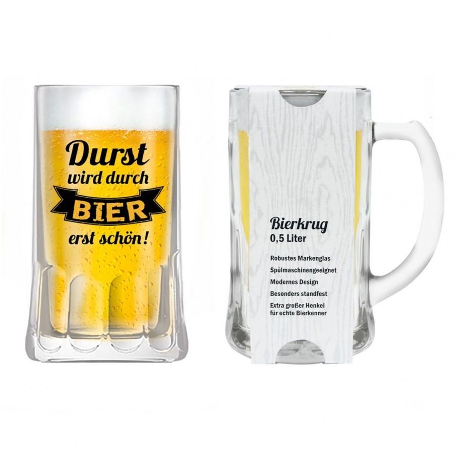 Bierkrug mit Spruch